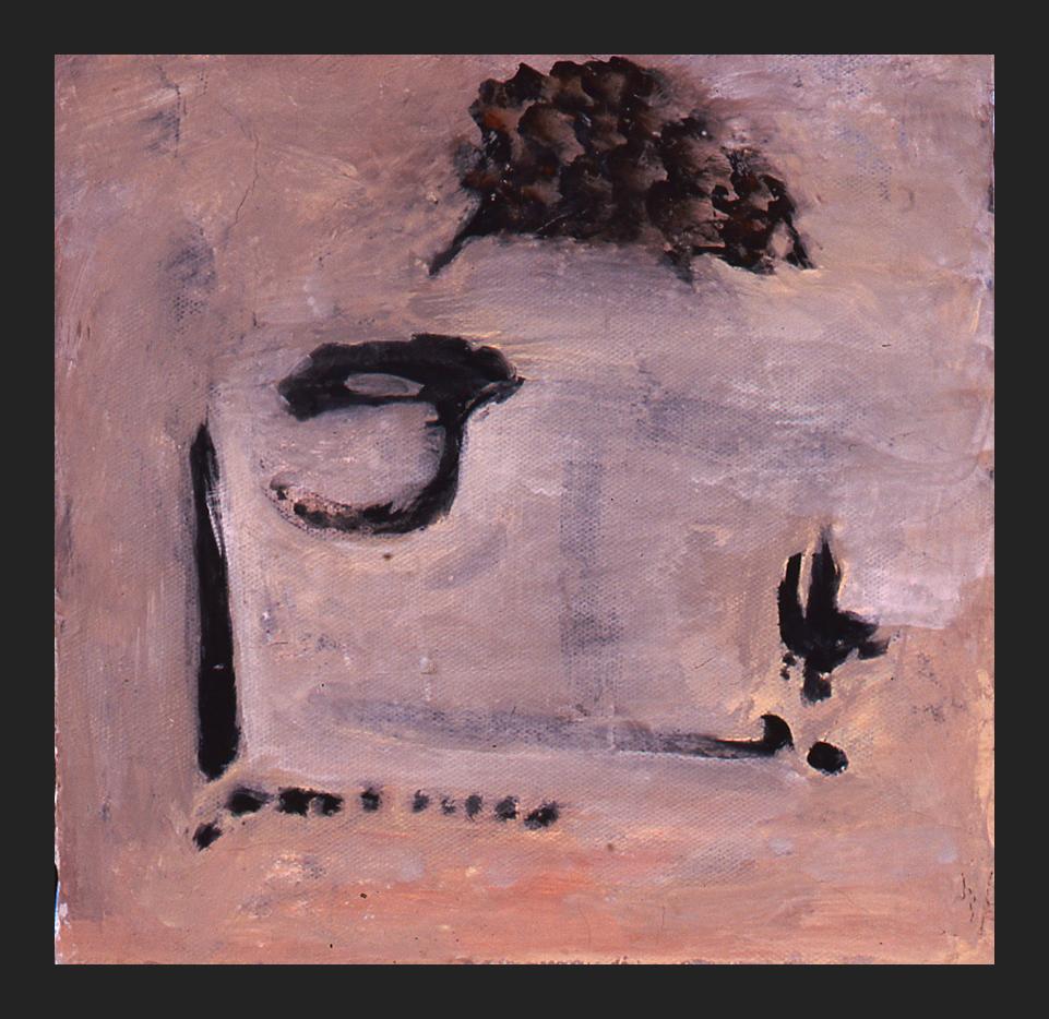 TANTALUS; Acrylic, tempera on canvas, 8 x 8