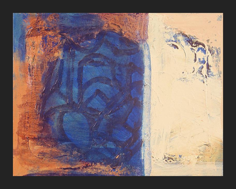 HOMAGE TO MATISSE IX; Acrylic on canvas, 10 x 15